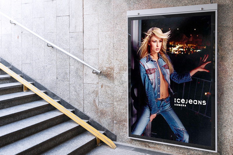 Fashion Advertising IceJeans Likecube